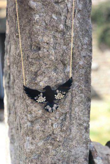 raven and roses necklace