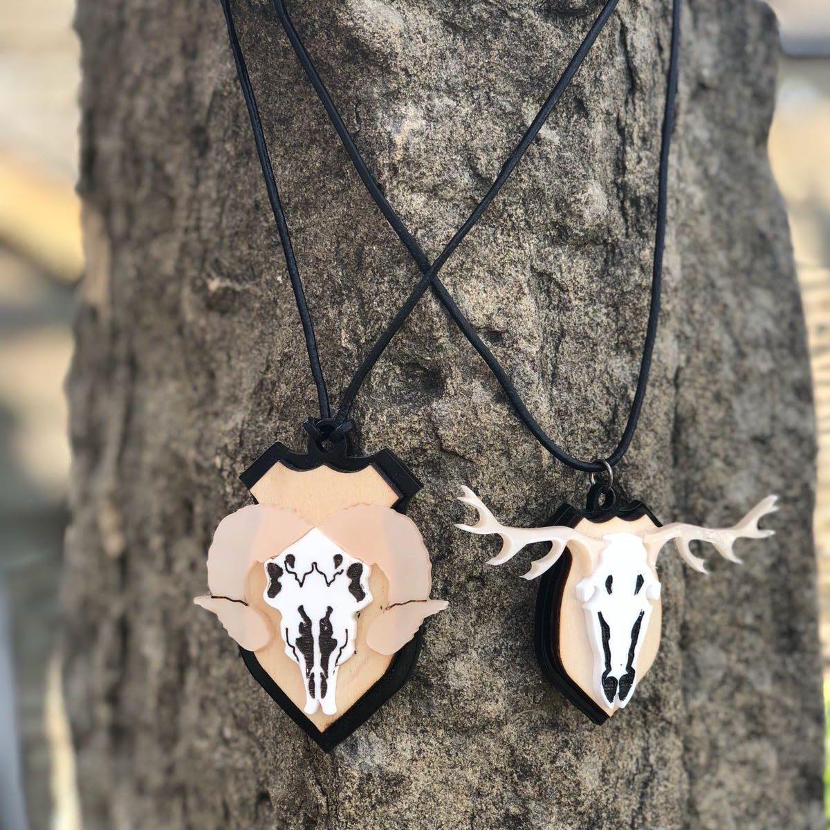faux taxidermy necklace