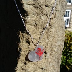 my bleeding heart pendant