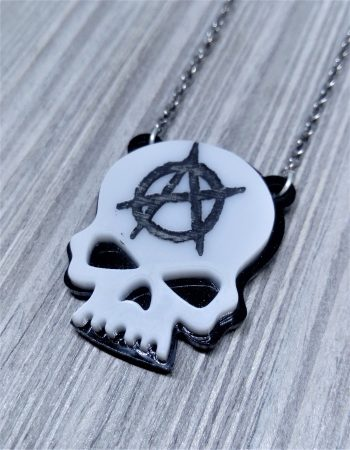 unisex pendant anarchy skull gas mask stag