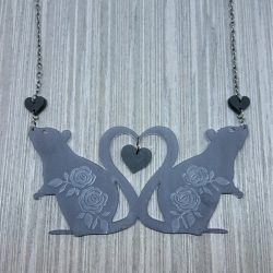 mischief rats necklace by beams and bobbins