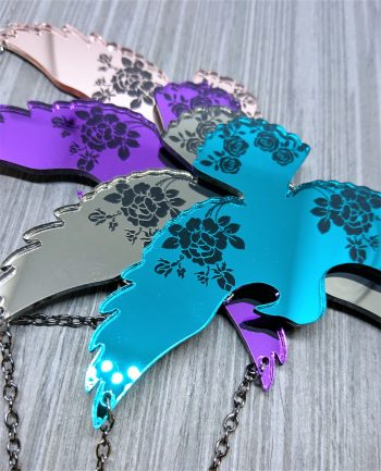 Ravens and Roses Necklace by Beams and Bobbins