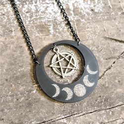 lunar moons pendant by beams and bobbins