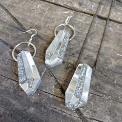 Crystal Drop Earrings by Beams and Bobbins