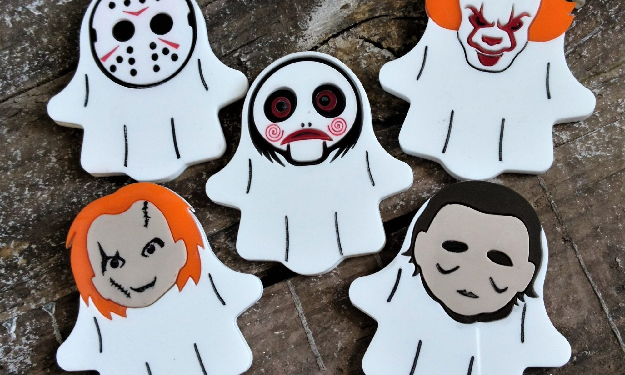 Horror Villains Ghost Brooches by Beams and Bobbins