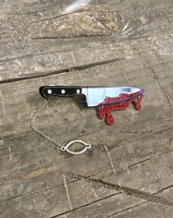 bloody knife tie clip by beams and bobbins alternative gothic