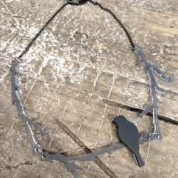 resting raven necklace by Beams and Bobbins