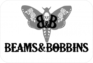 Beams and Bobbins Logo shop gothic alternative jewellery