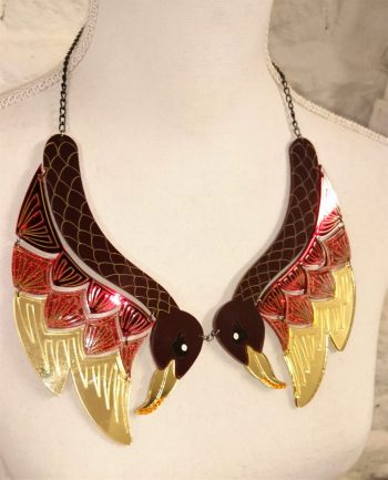 statement phoenix necklace by beams and bobbins