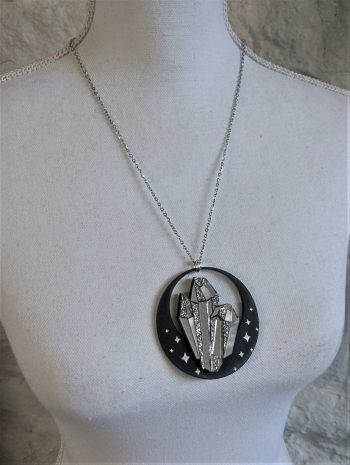 Crystal Orb Necklace by Beams and Bobbins