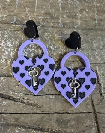 Lovers Lock Earrings by Beams and Bobbins gothic alternative jewellery