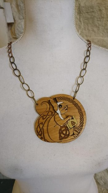 Norse Mythology Collection Ratatoskr Necklaceby Beams and Bobbins