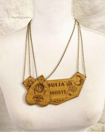 Ouija Board / Spirit Board Bamboo Necklace by Beams and Bobbins