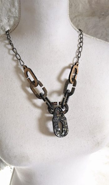 Bamboo Chunky Chains Necklace by Beams and Bobbins Alternative, Gothic Jewellery