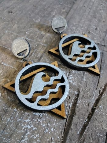 Elements Earrings by Beams and Bobbins Gothic / Alternative Jewellery