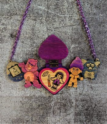 Penny Rotten 90s Retro Toys Statement Necklace by Beams and Bobbins Alternative Gothic Jewellery